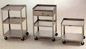 Mobile Cart, 2 shelves, 19Hx18Wx16D